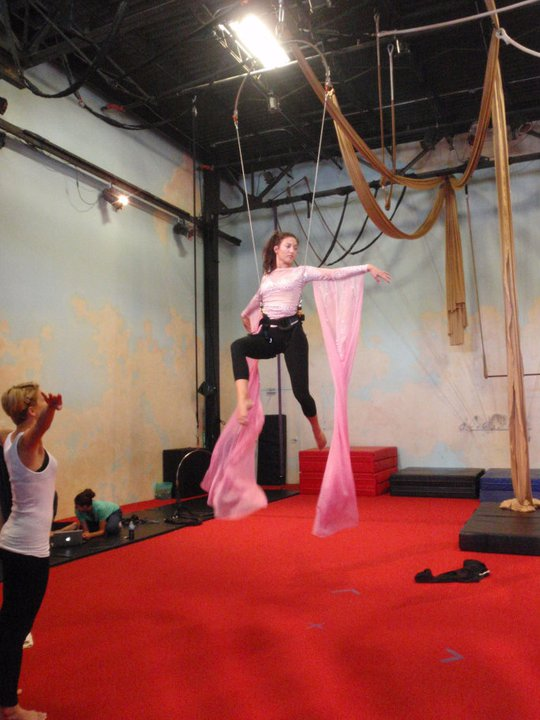 Katy Perry's tour aerialists practice at Xelias