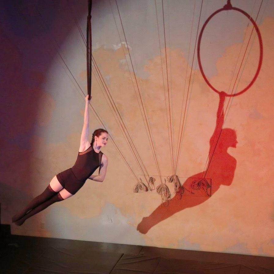 Maedya on a hoop at the Xelias showcase